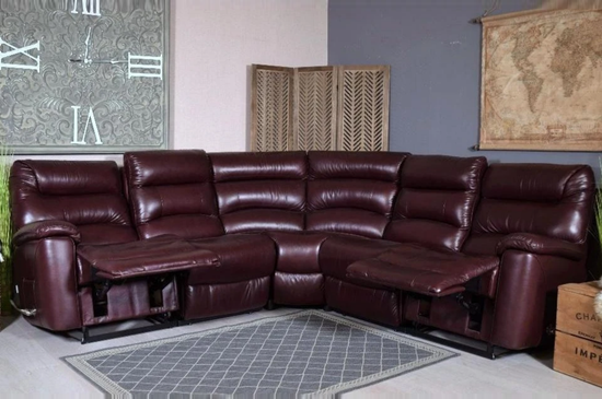 Brooklyn Leather Manual Recliner Corner Sofa