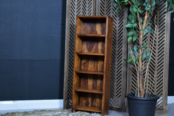Dark Wood DVD Shelf Unit