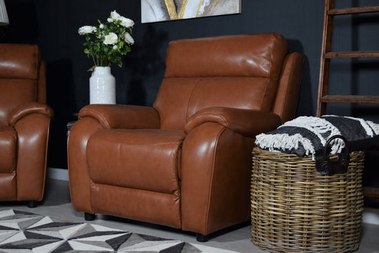 Leather Electric Recliner Set
