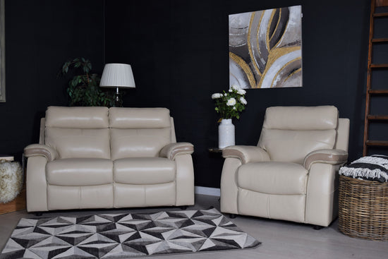 TOP BRAND - Zara 2 Seater Sofa & Chair - Mezzo Hessian / Beige