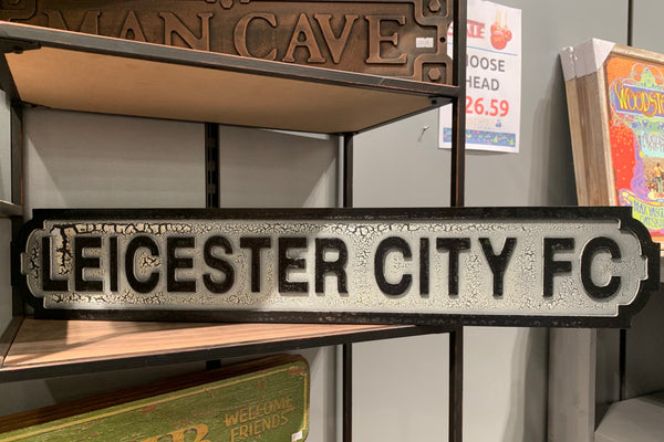 Vintage Style Road Sign - Leicester City Flower Club