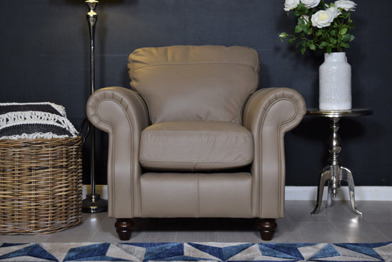 Finley Leather Chair - Beige