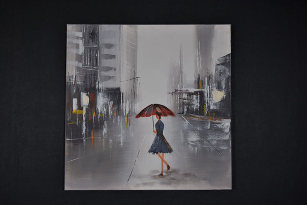 Lady in the Rain Wall Art
