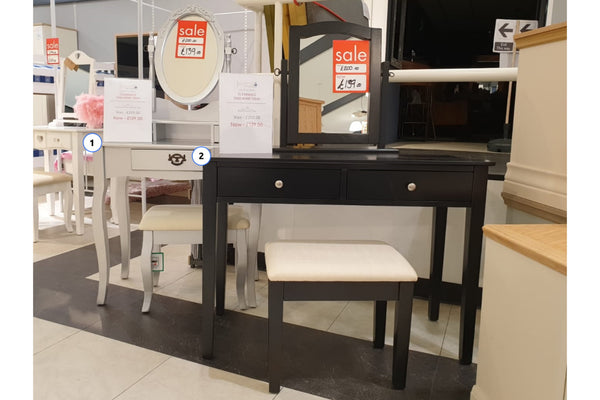 Dressing Table 3 Piece Set (Available in 2 Styles)