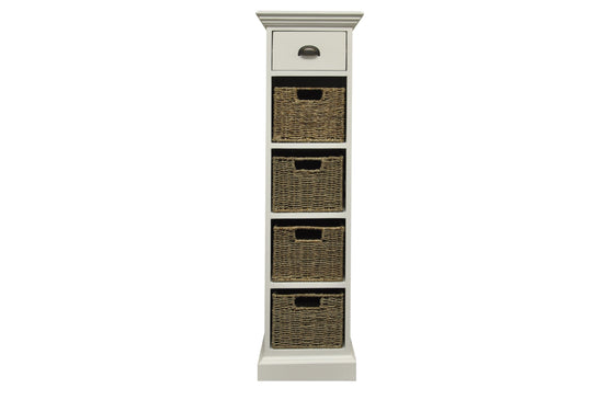 Warwick Collection - 1 Drawer 4 Basket Unit