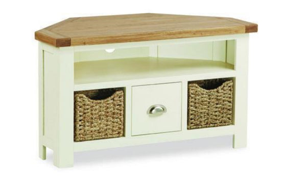 Cotswold Collection - Corner TV Unit - Oak
