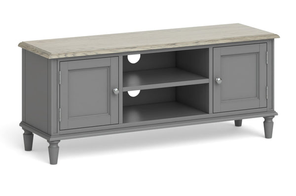 Morocco 2 Door Large TV Unit - Grey