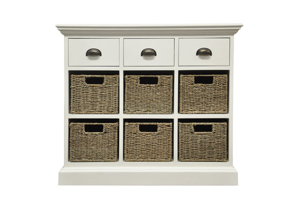 Warwick Collection - 3 Drawer 6 Basket Unit