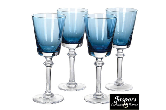 Blue White Wine Glass