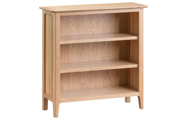 Nottingham Small Wide Bookcase - Oak