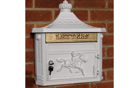 Aluminium Vintage Style Wall Post Box