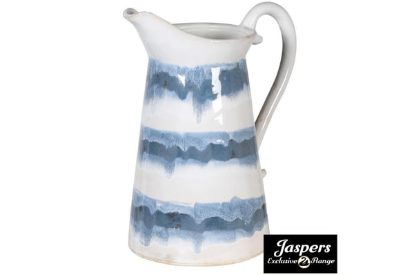 Blue and White Ceramic Jug