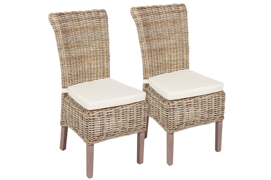 The Wicker Merchant - Cushioned Dining Chair