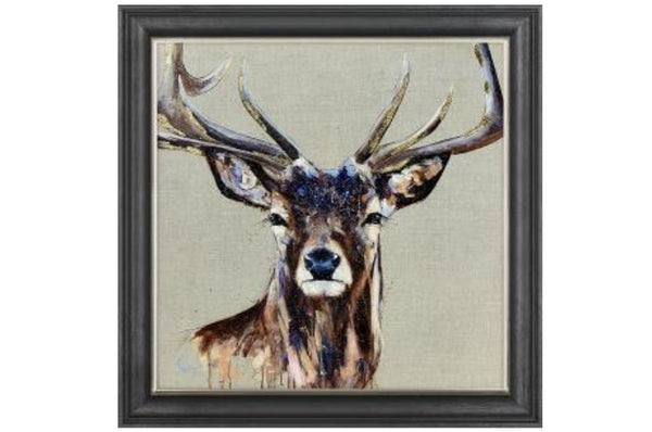 'Arteon' Wall Art - Beige / Brown/ Stag