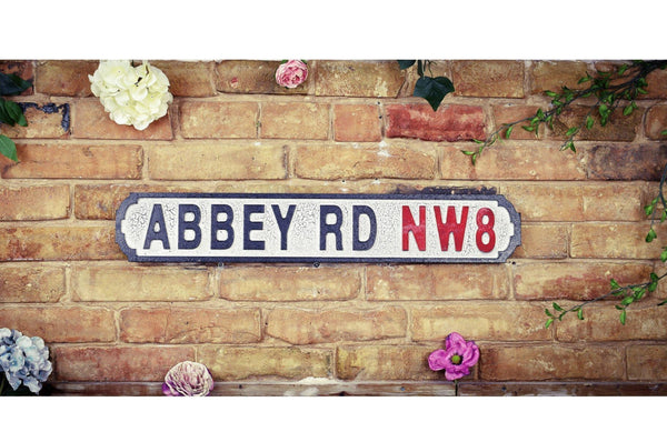 Vintage Style Road Sign - Abbey Road NW8