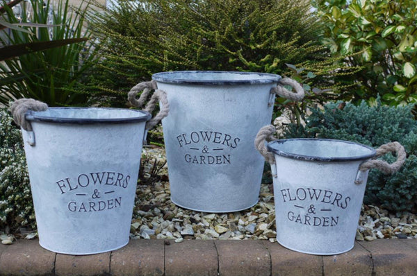 Flower & Garden Buckets - (Available in 3 Sizes)