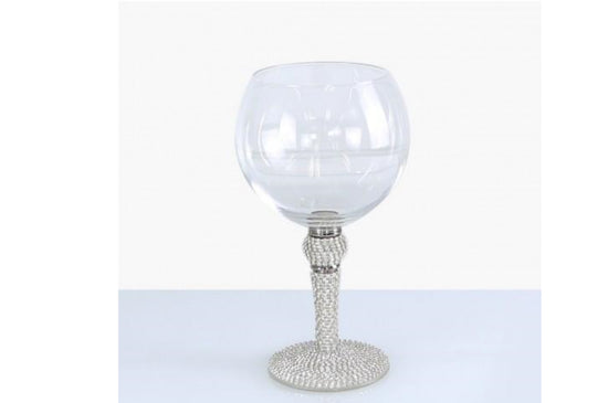 Milano Gin Glass With Diamante Ball And Stem