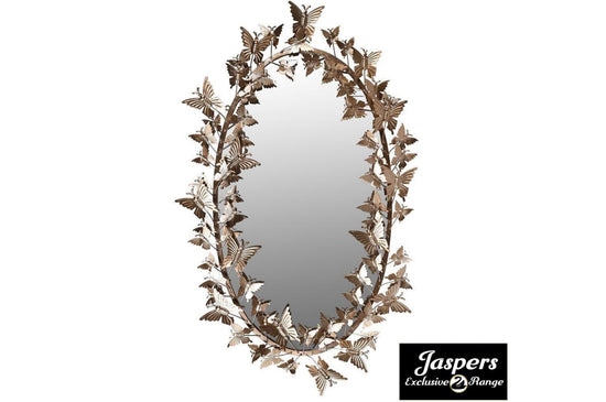 Golden Butterfly Oval Mirror