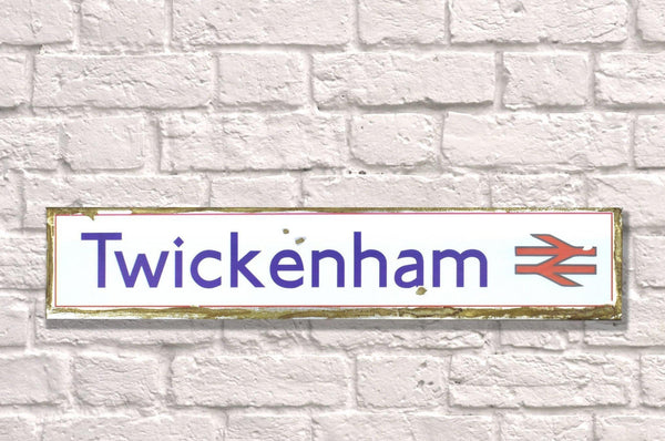 Vintage Style Rail Road Sign - Twickenham