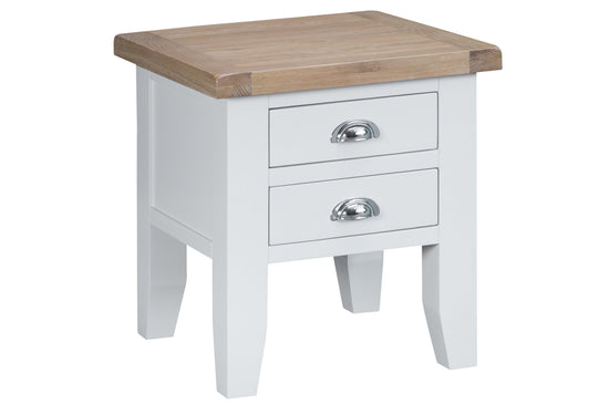Trentham Collection - Lamp Table - Oak - Available in White or Grey