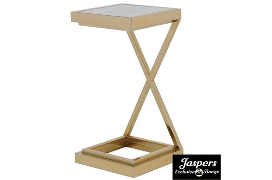 Gold Cross Side Table