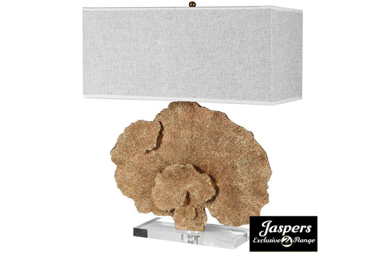 Gold Faux Coral Table Lamp - Glitter