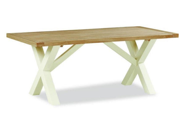 Cotswold Collection - 1.9m Cross Dining Table - Oak
