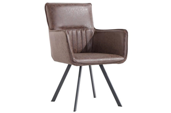 PU Carver Dining Chair - (Available in Various Colours)