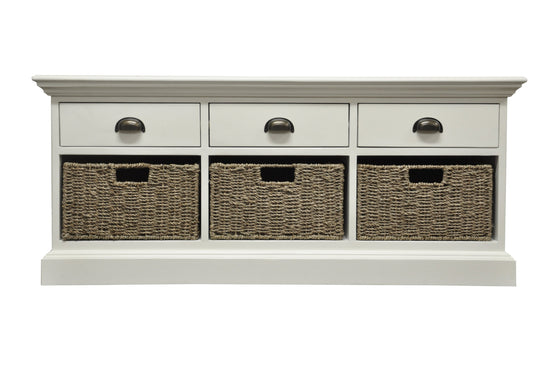 Warwick Collection - 3 Drawer 3 Basket Unit
