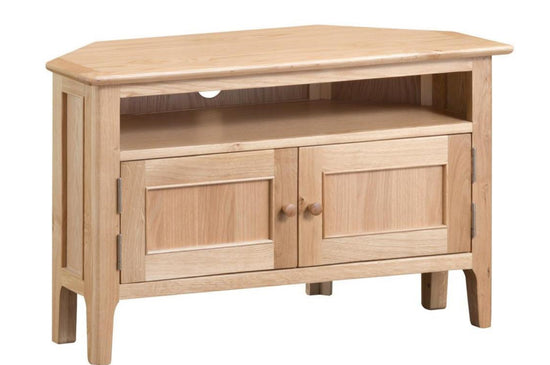 Nottingham Corner TV Cabinet - Oak
