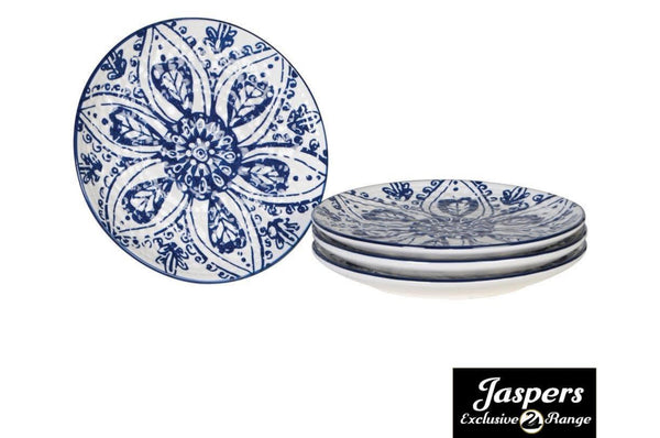 Set of 4 Small Patterned Plates