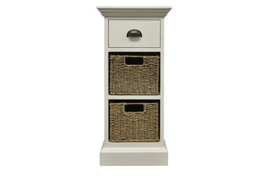 Warwick Collection - 1 Drawer 2 Basket Unit