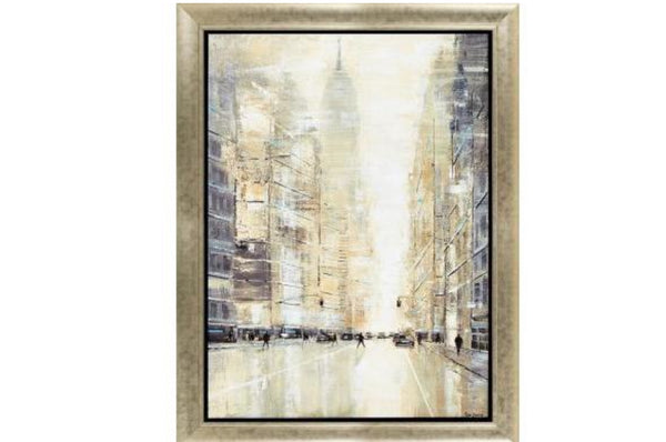 Empire State View Wall Art - Beige / Natural