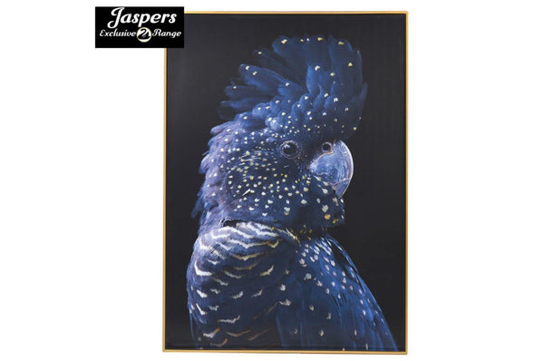 Right Blue Parrot Picture - Wall Art / Bird
