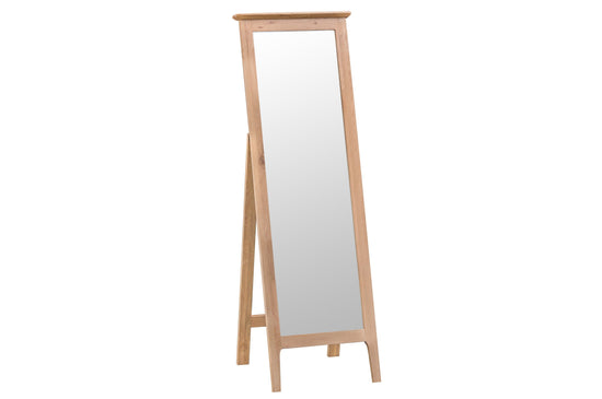 Nottingham Cheval Mirror - Oak