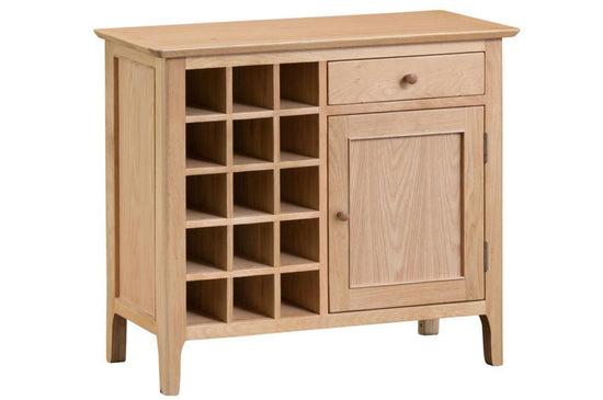 Nottingham Gin / Wine Cabinet - Oak