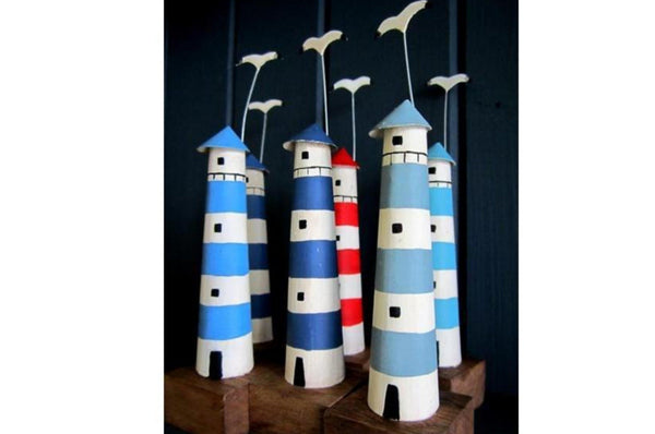 Mini Lighthouses Ornament - Available In 2 Colours