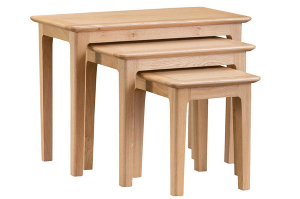 Nottingham Nest of 3 Tables - Oak