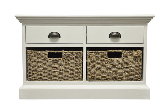 Warwick Collection - 2 Drawer 2 Basket Unit