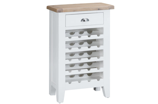 Trentham Collection - Gin/ Wine Cabinet - Oak - Available in White or Grey