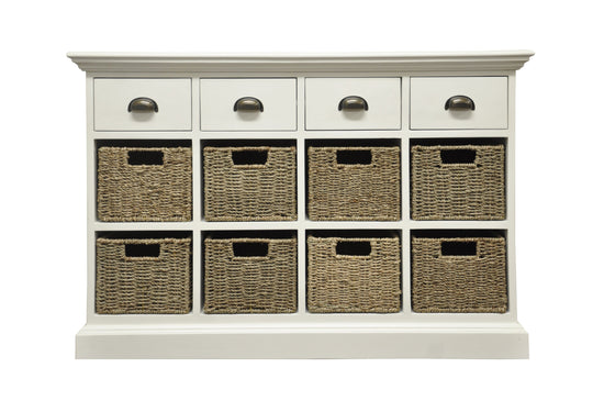 Warwick Collection - 4 Drawer 8 Basket Unit