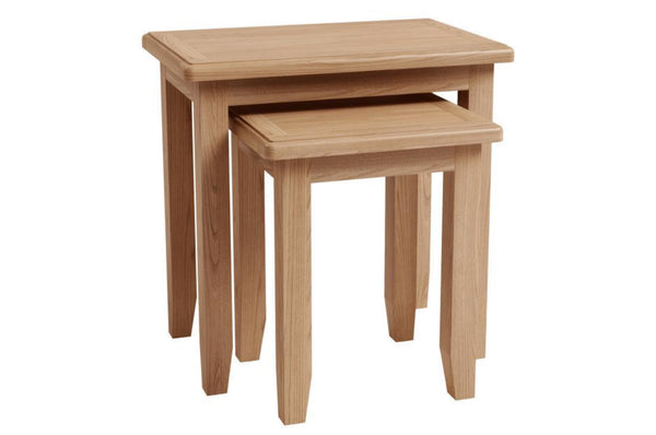 Guernsey Collection - Nest of 2 Tables - Light Oak