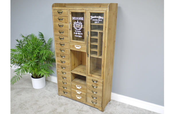 Vintage Style Storage 24 Drawer 2 Door Cabinet