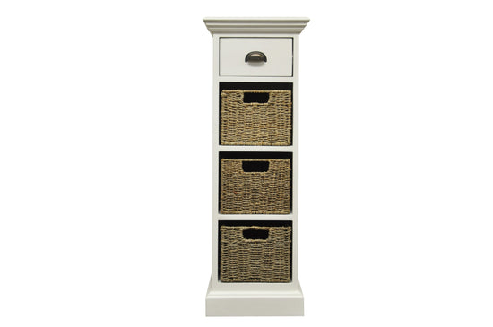 Warwick Collection - 1 Drawer 3 Basket Unit