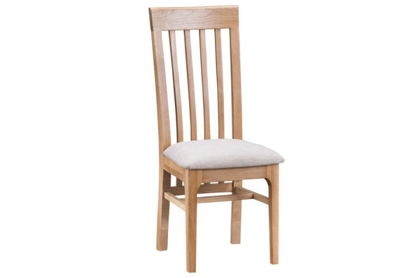 Nottingham Slat Back Dining Chair Fabric - Oak