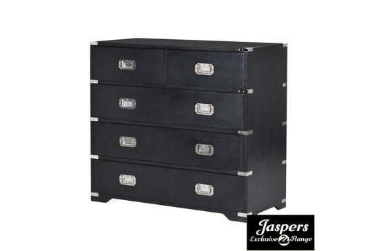 *CLEARANCE* Black Kensington 2 3 Chest of Drawers