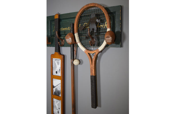 Decorative Tennis Racket Wall Art - Vintage Style