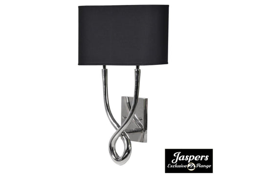 Twisted Nickel Wall Lamp - Silver / Black