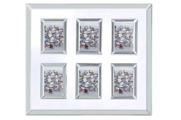Value Glitz & Mirror 6 Aperture Picture Frame
