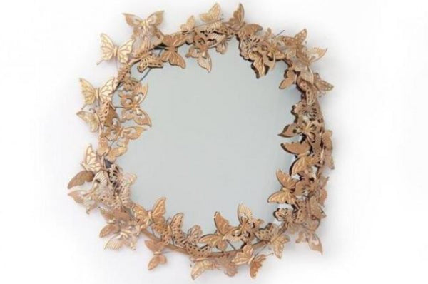 Gold Butterfly Wall Mirror - Large